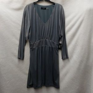 Guess Metallic V-neck Jersey Dress with Pockets
